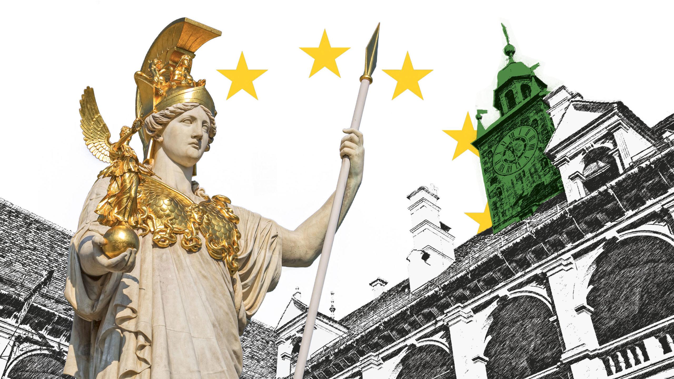 Pallas Athene und Landtag