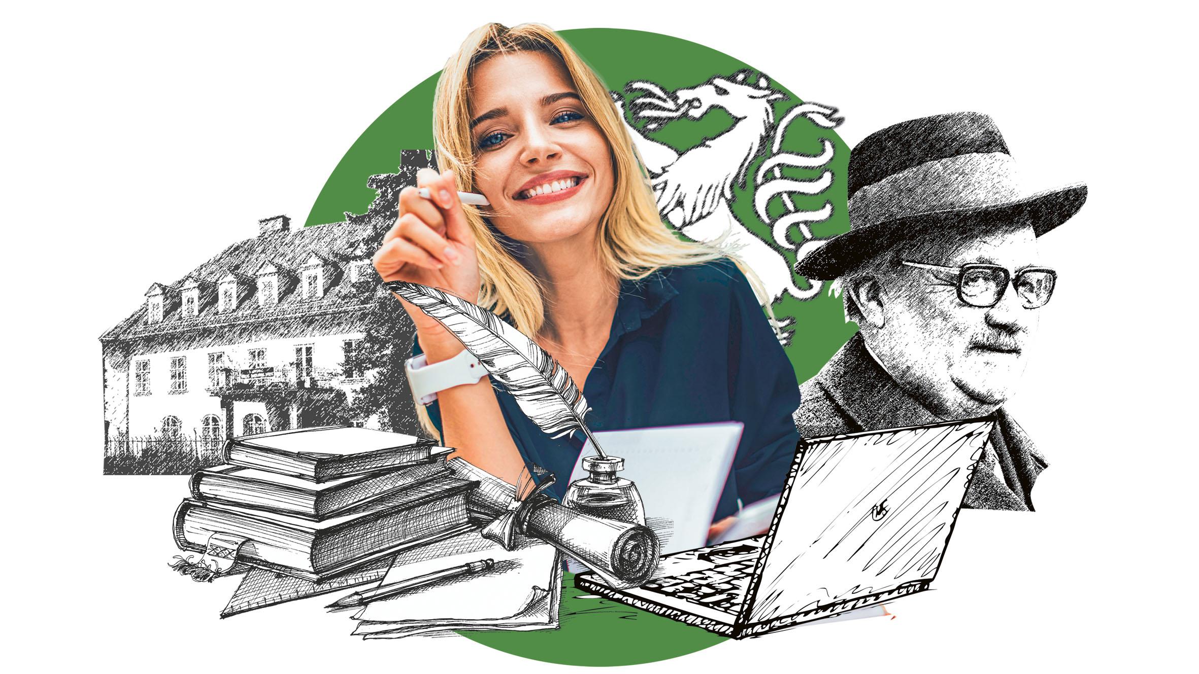 junge Frau, Hanns Koren und die Herdergasse