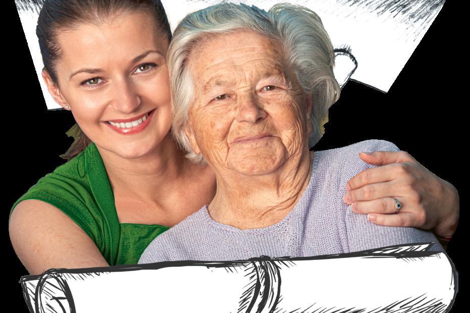 Junge Frau und Seniorin