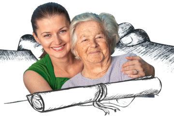 Bild mit junger und alter Frau